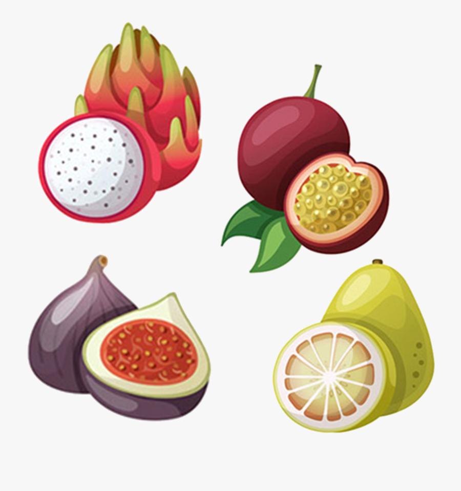 Fruits Clipart Tropical Fruit - Dragon Fruit Cartoon Png, Transparent Clipart
