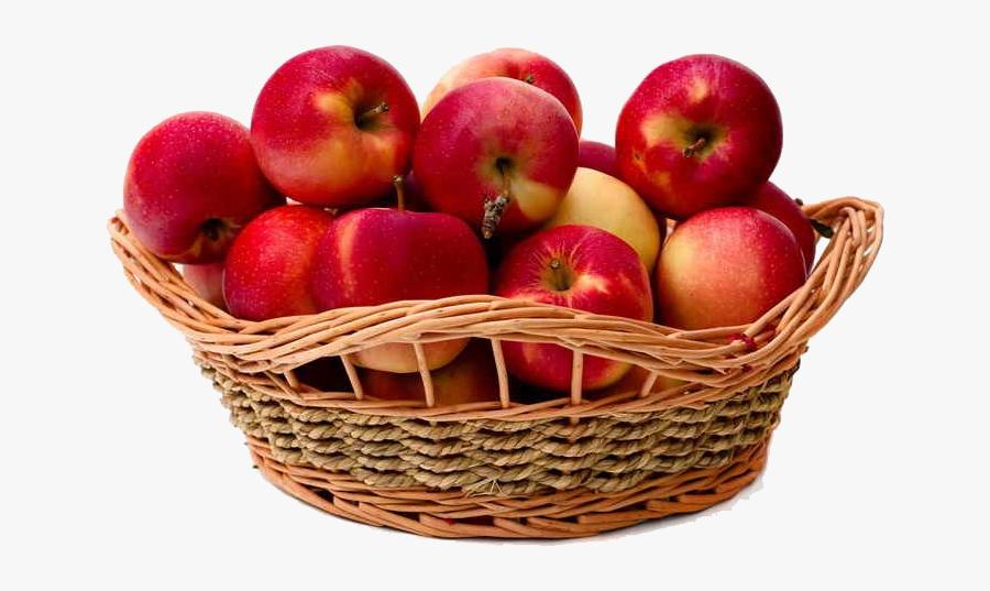 Basket Of Apple Png Image Download - Apple In The Basket, Transparent Clipart
