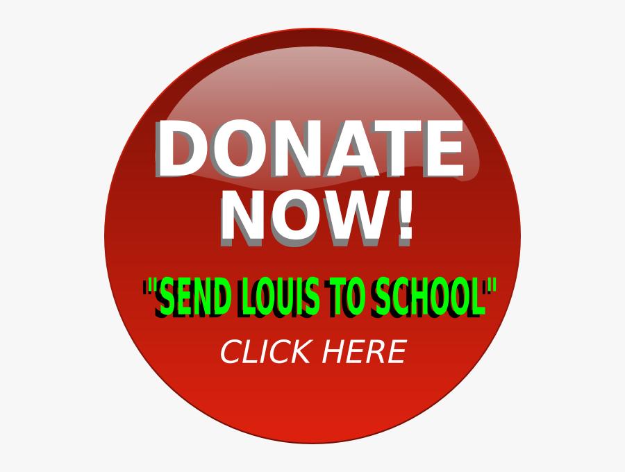 Send Louis To School Button Svg Clip Arts - Circle, Transparent Clipart