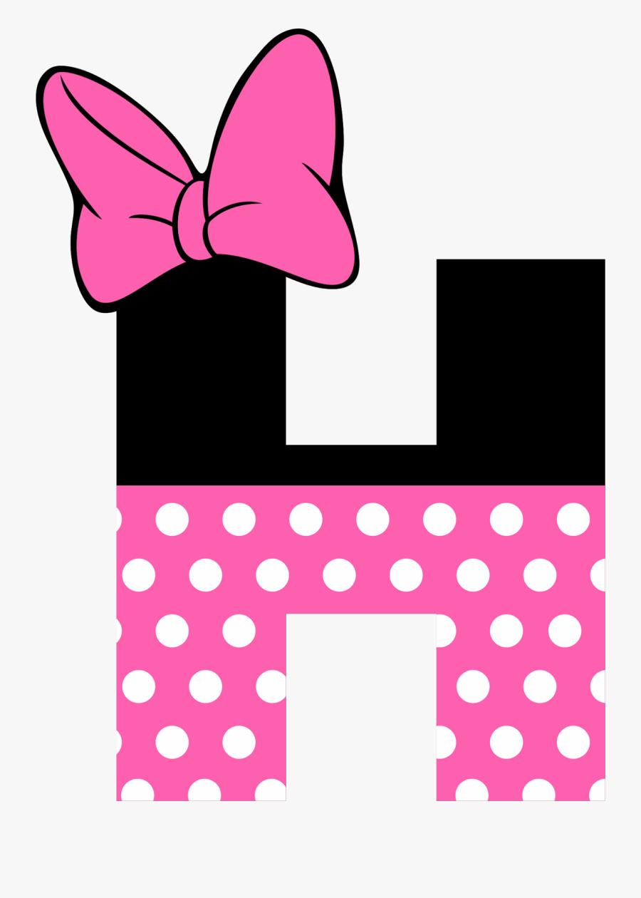 Magnet Clipart Letter - Minnie Mouse Alphabet Letters, Transparent Clipart
