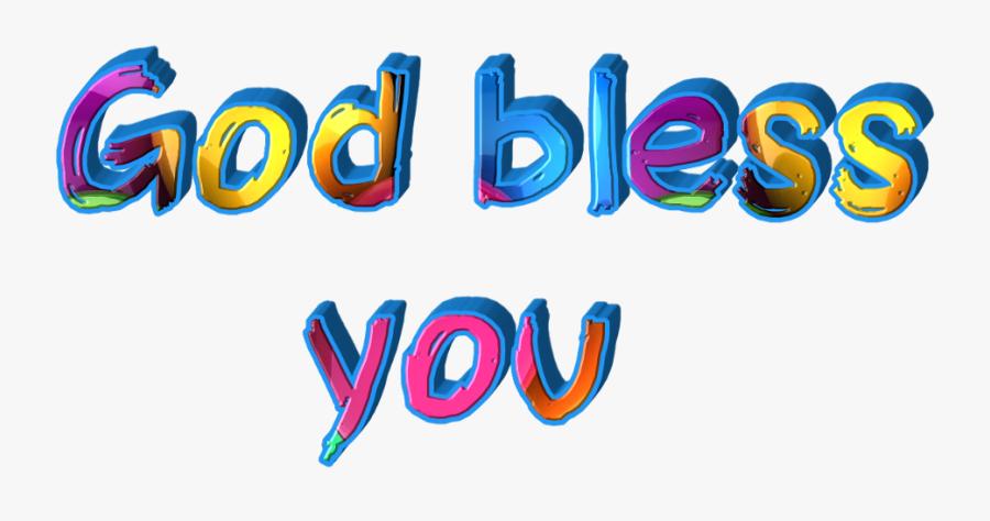 #god Bless You - God Bless You Sticker, Transparent Clipart