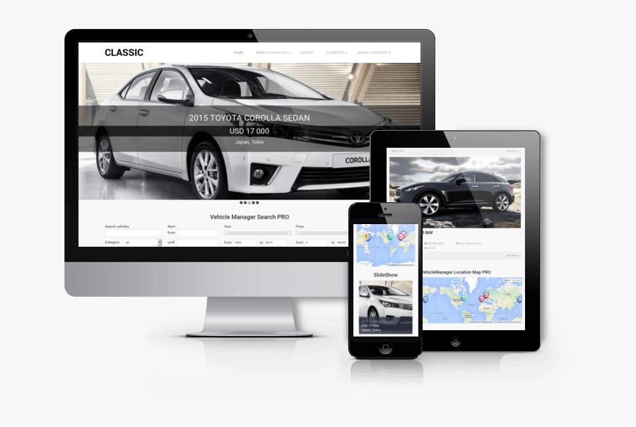 Free Vehicle Templates - Free Car Joomla Template, Transparent Clipart