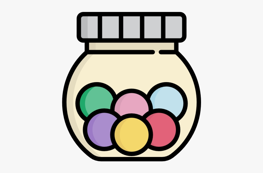 Jar Of Candy Free Icon Transparent Png - Jar With Candy Picture Clip Art, Transparent Clipart
