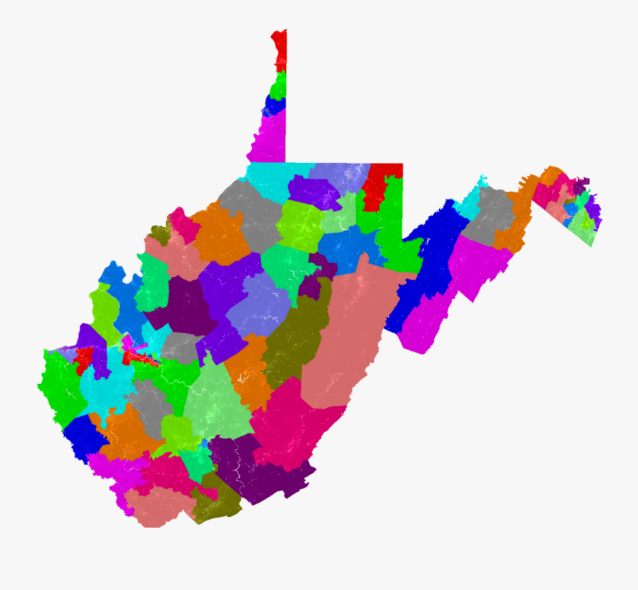 Larger West Virginia House Of Delegates Map - West Virginia Congressional Dist, Transparent Clipart