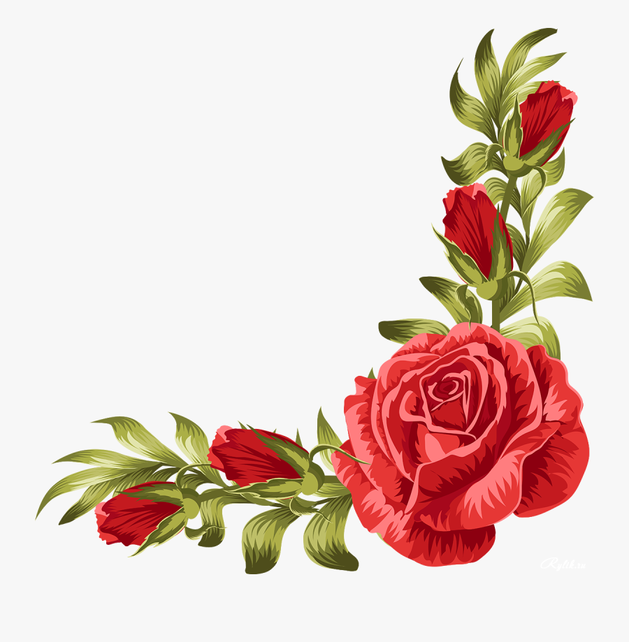 Rose Border Clip Art at Clker.com - vector clip art online, royalty free &  public domain