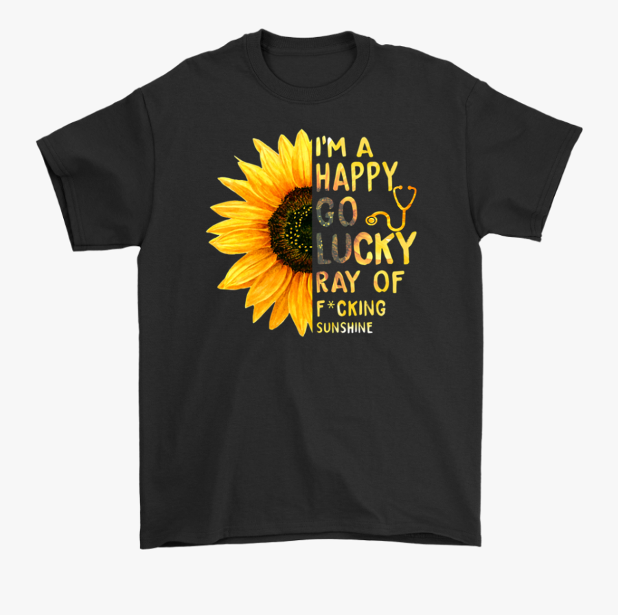 Am A Ray Of Fucking Sunshine Shirt T Shirt Tee, Transparent Clipart