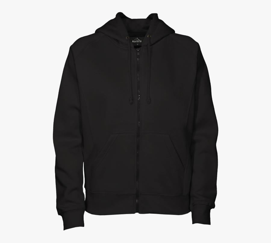 550 X 727 - Black Zipper Hoodie Front, Transparent Clipart