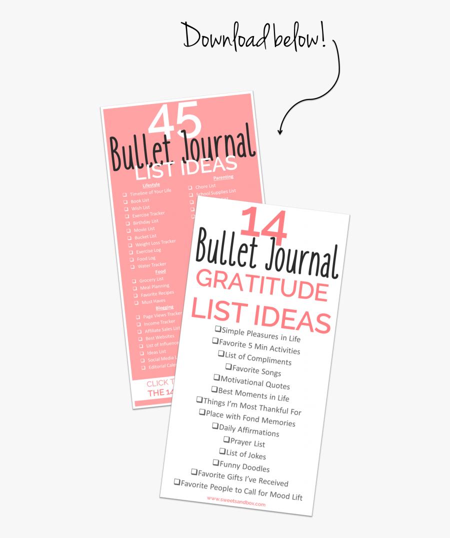 Download Free List Of - Bullet Journal, Transparent Clipart