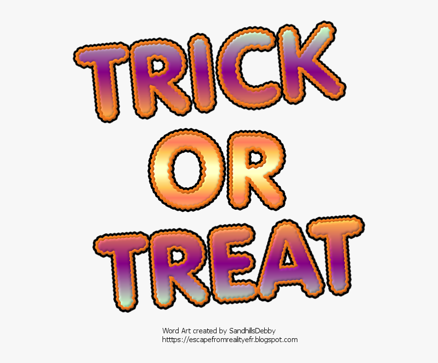 To Save, Click To Open Full Size, Then Right Click - Free Halloween Word Art Psp, Transparent Clipart