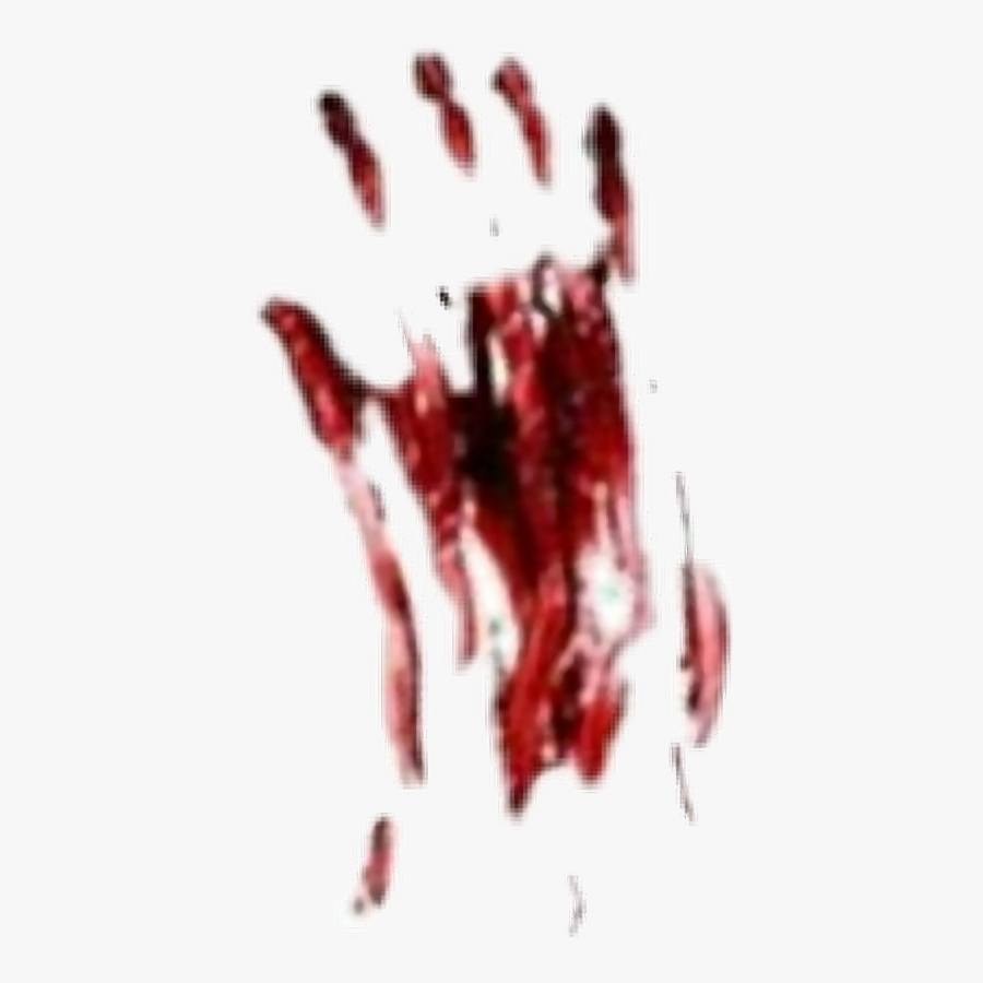 #blood #bloody #handprint #halloween #scary #creepy - Scary Bloody Handprint, Transparent Clipart