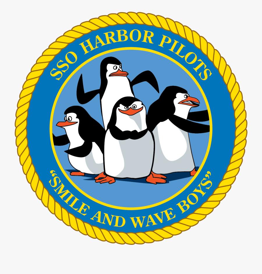 Sso Harbor Pilots Patch - Penguins Of Madagascar, Transparent Clipart