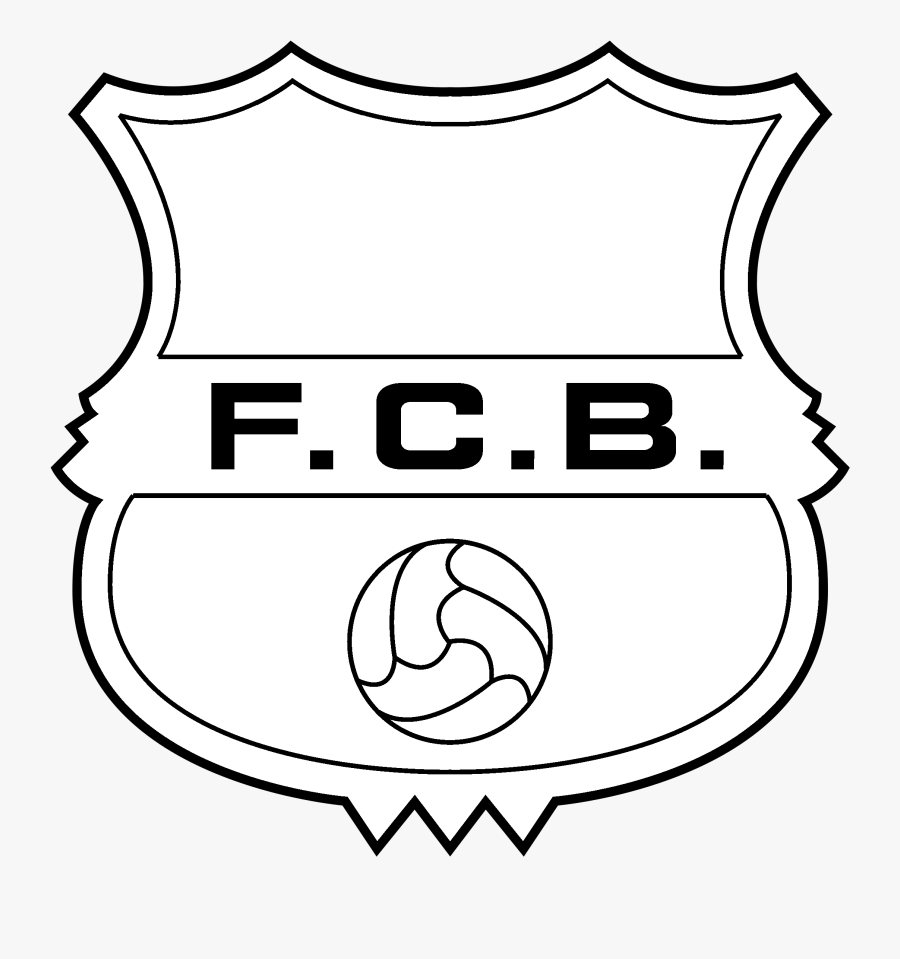 barcelona logo black and white fc barcelona old logo free transparent clipart clipartkey white fc barcelona old logo