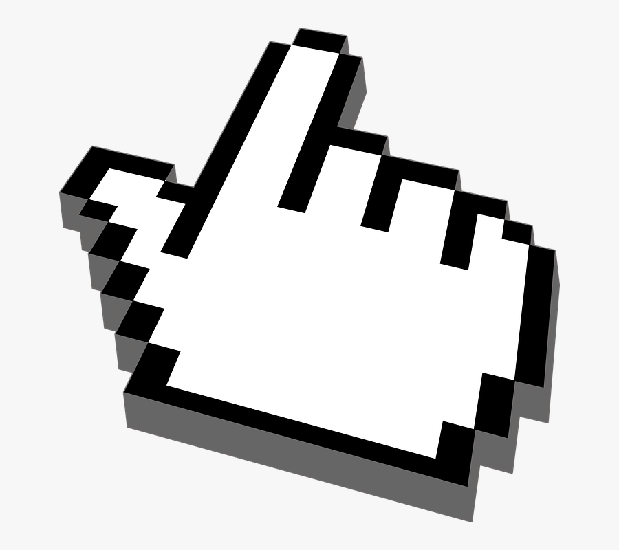 Mouse Cursor Click Clipart Hand Cursor - Gif Like Youtube Png, Transparent Clipart