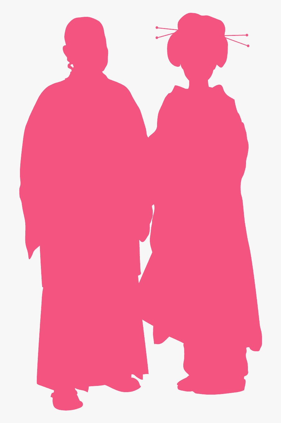 Traditional Clothing Silhouette Outline, Transparent Clipart