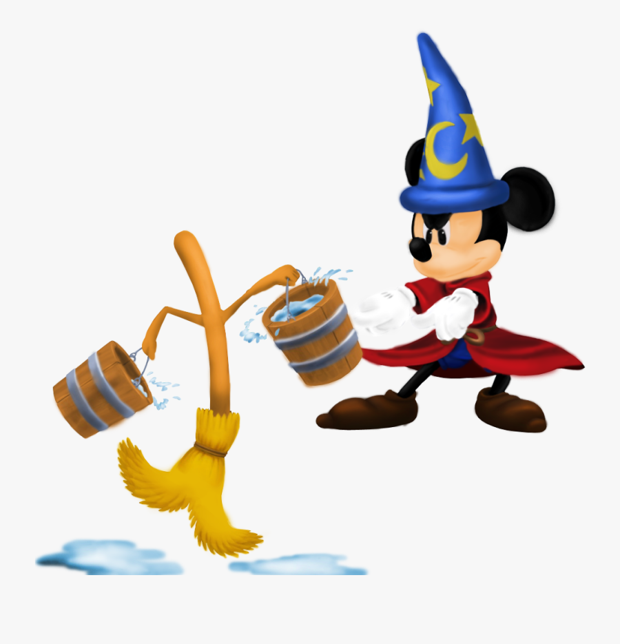 """Mickey Mouse The Sorcerer""""s Apprentice Kingdom Hearts - Sorcerer Mickey Kingdom Hearts, Transparent Clipart"""