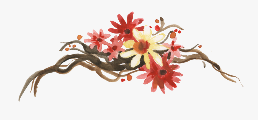 Visual Arts Watercolour Flowers Autumn Watercolor Painting - Watercolor Fall Flowers Clipart, Transparent Clipart