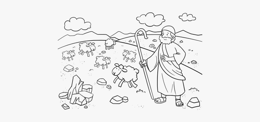 Exodus 3 - 1-12 - Exodus 3 1 12 Coloring Page, Transparent Clipart