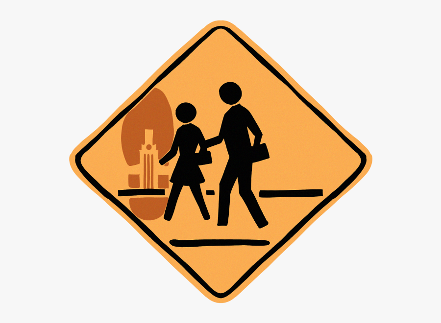 Road Sign With Two People, Transparent Clipart