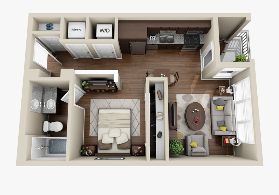 3d Apartment Floor Plan Transparent Cartoons Studio Apartment 3d Floor Plan Free Transparent Clipart Clipartkey