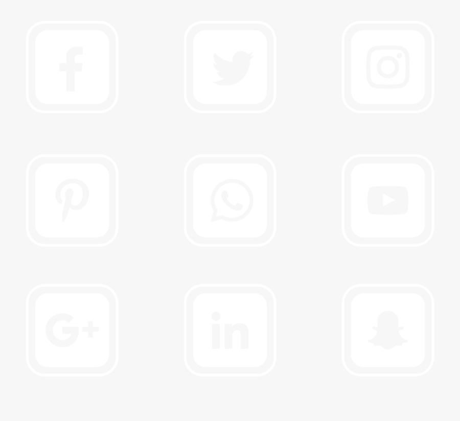 Other Transparent Background Social Media Icons Vector - Transparent Background Social Media Icon Vectors, Transparent Clipart