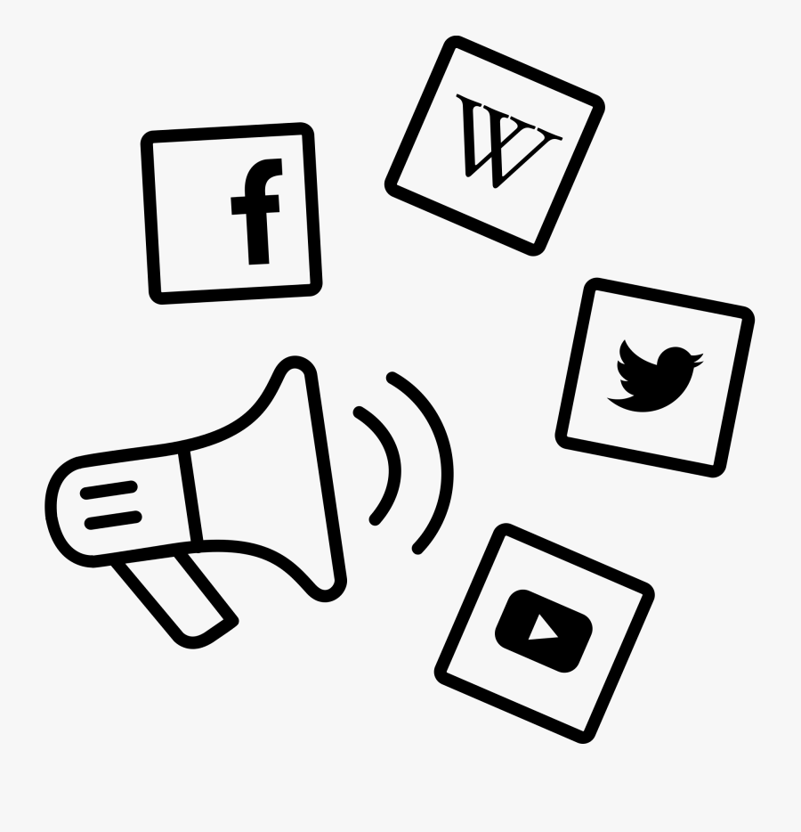 Transparent Social Media Marketing Icon Png - Social Media Marketing Icon, Transparent Clipart