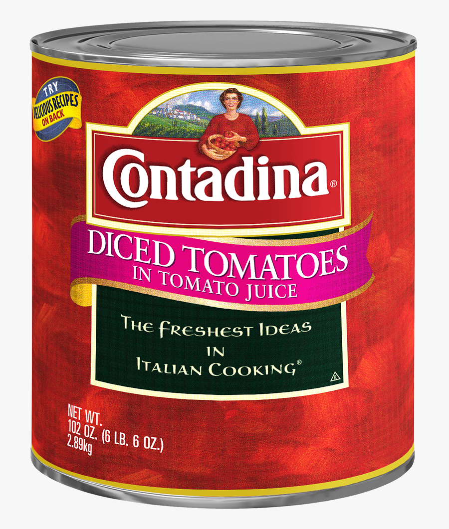 Contadina® Diced Tomatoes In Tomato Juice - 10 Can Tomato Paste, Transparent Clipart