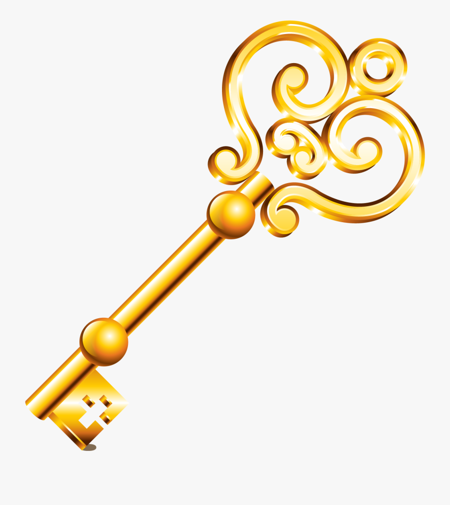 Clipart Key Metal Key - Golden Key Clipart, Transparent Clipart