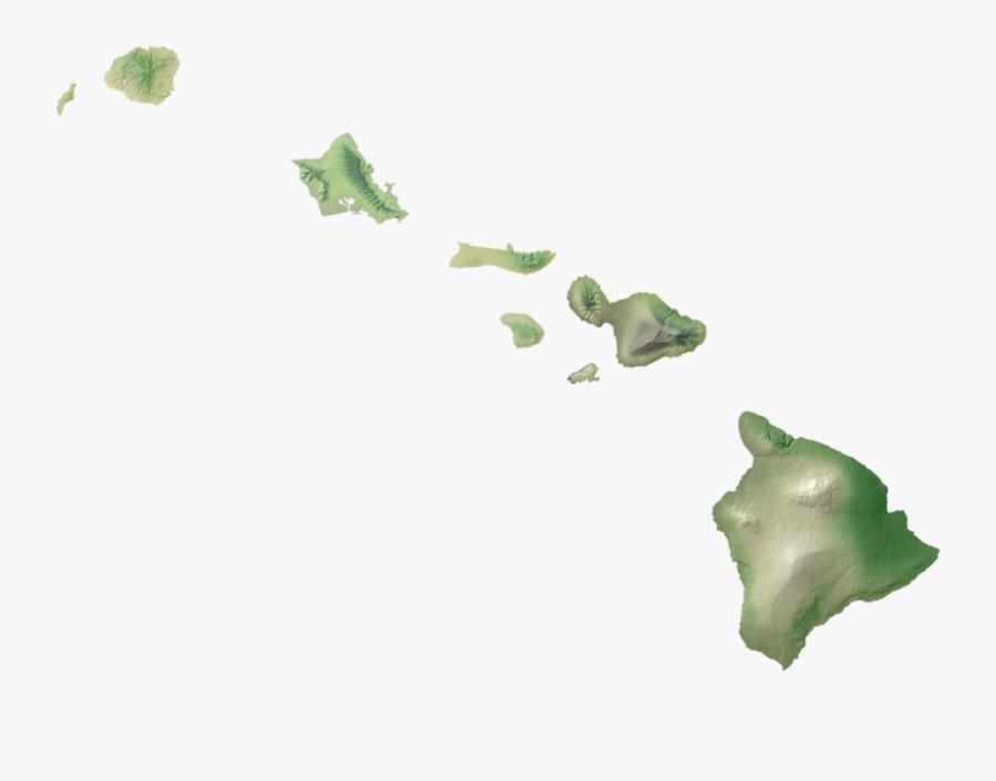 Hawaii Island Png - Hawaii Map Silhouette, Transparent Clipart