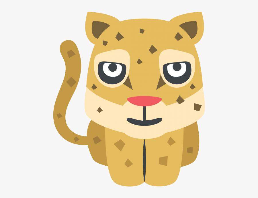 Transparent Cheetah Face Png - Cheetah Emoji, Transparent Clipart