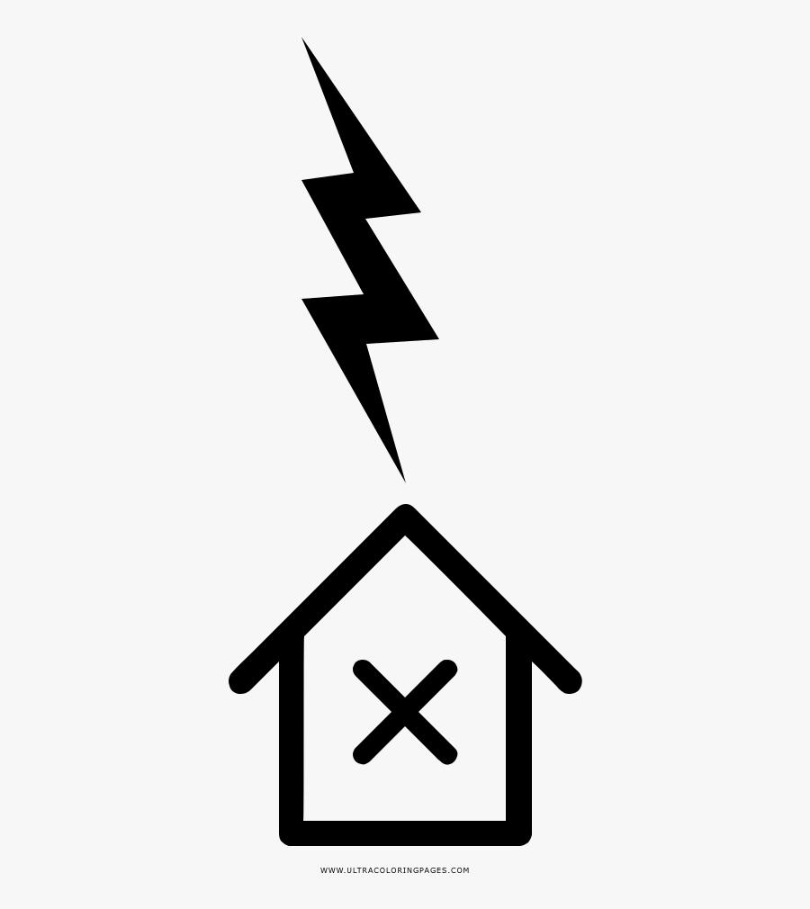 Lightning Strike Coloring Page - Rayo Dibujo, Transparent Clipart
