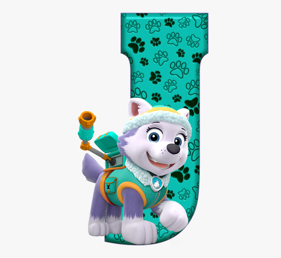 Transparent Everest Paw Patrol Clipart - Paw Patrol Letters J, Transparent Clipart