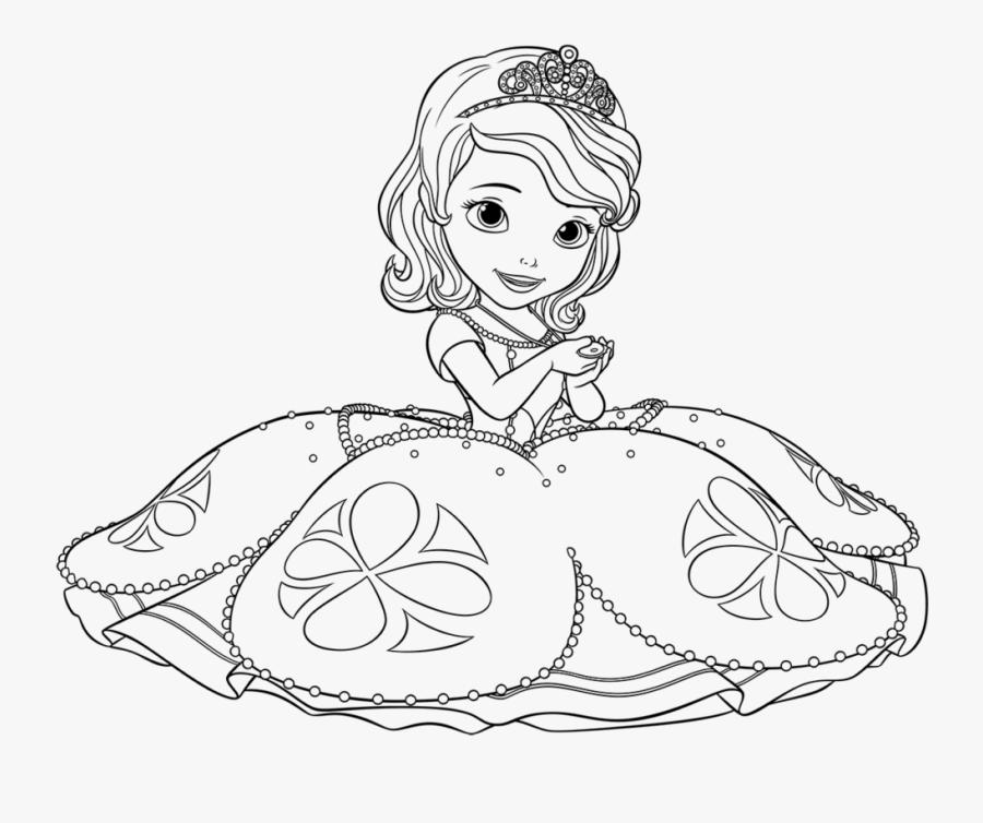 Princess Drawing Black And White Princesa Sofia Para Pintar