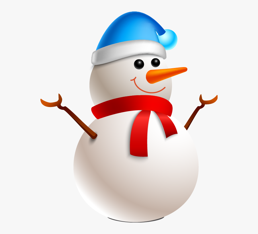 Clipart Transparent Background Snowman - Snow Man Clipart Background, Transparent Clipart