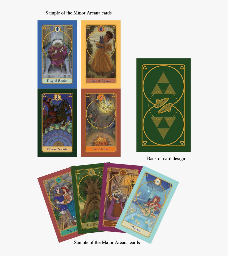 Clip Art Tarot Designs Available For - Video Game Tarot Cards Design, Transparent Clipart