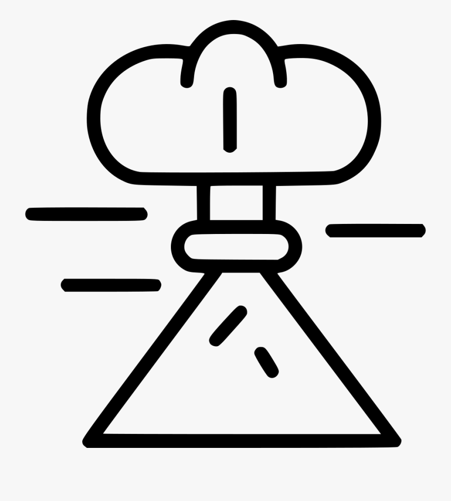 Volcano Eruption, Transparent Clipart