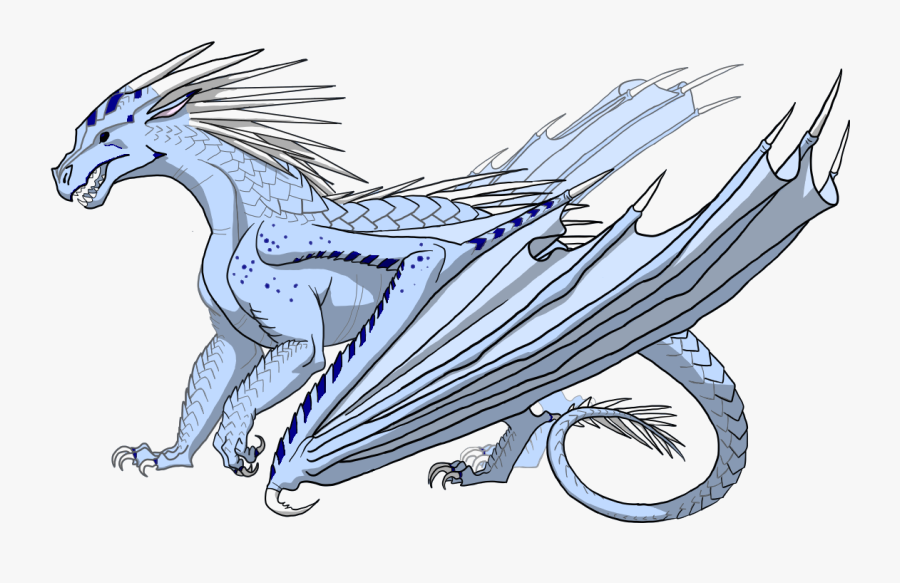 Transparent Fire Breathing Dragon Png - Wings Of Fire Icewing Base, Transparent Clipart
