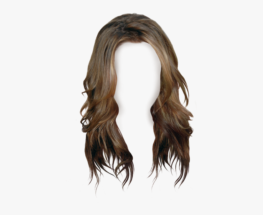 Brown Hair Wig Long Hair - Transparent Background Hair Clipart, Transparent Clipart