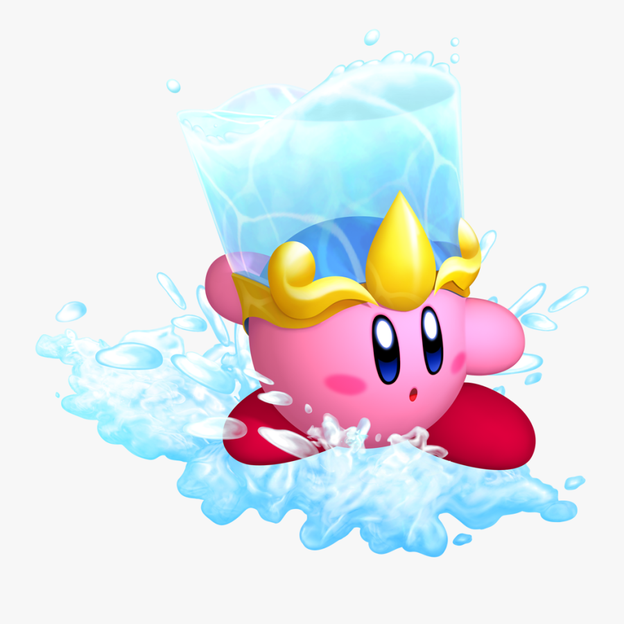 Kirby With A Bucket Of Water On His Head Clipart , - Kirby Return To Dreamland Concept, Transparent Clipart