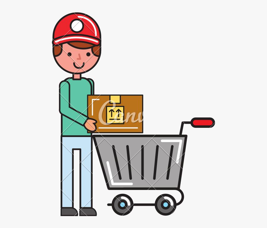 Customer Clipart Customer Shopping , Transparent Cartoons - Customer Cart Shopping Cartoon, Transparent Clipart