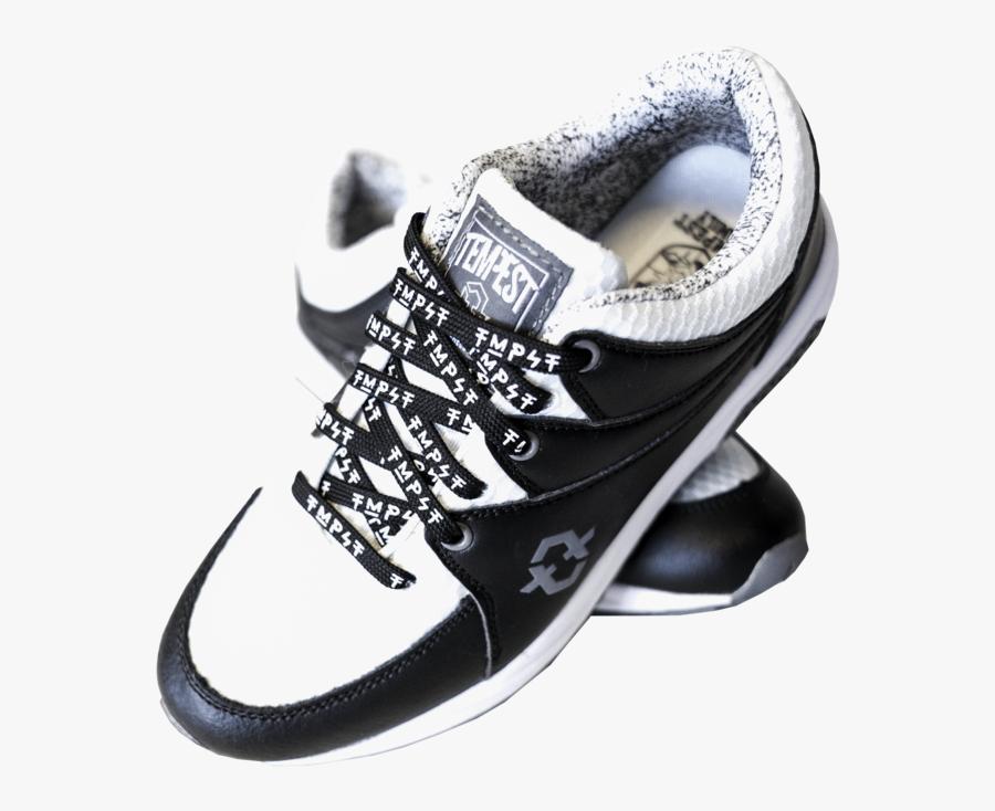 Tmpst Shoe Laces Black White Full Shoe, Transparent Clipart