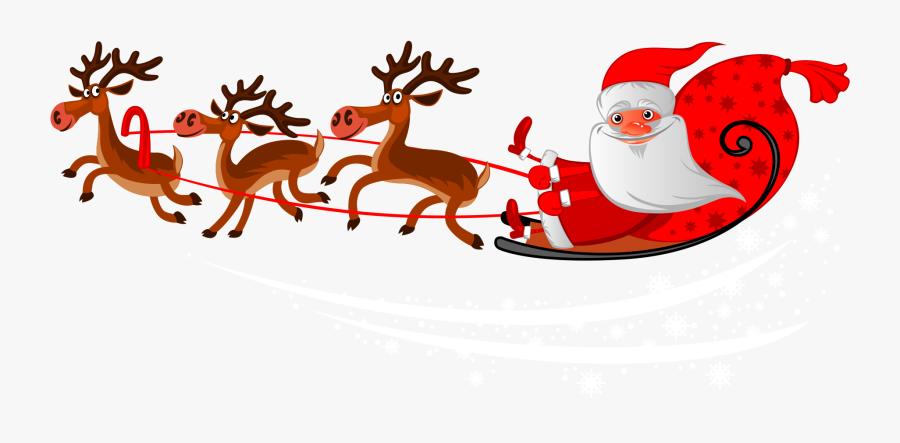 Santa Clauss Reindeer Mrs - Christmas Santa Claus Png, Transparent Clipart