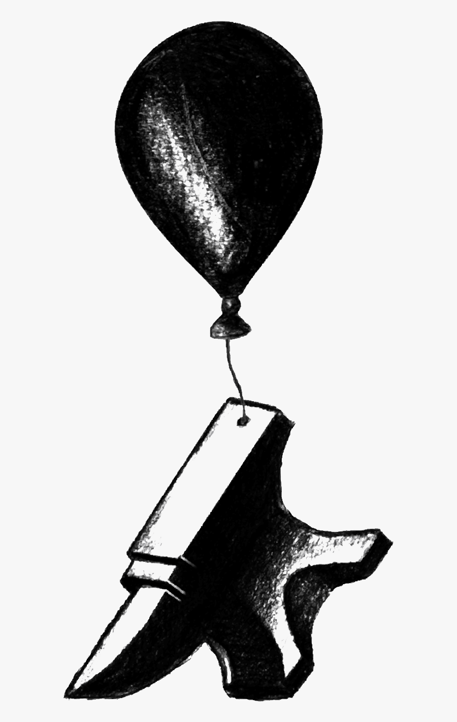 Anvil Drawing Old For Free Download - Balloon, Transparent Clipart