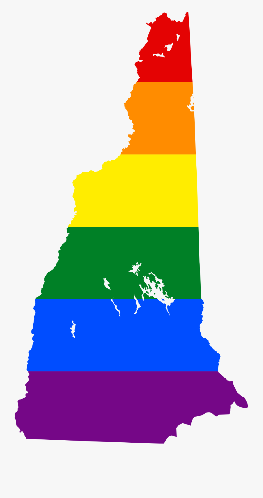 New Hampshire Map Flag Clipart , Png Download - New Hampshire Flag Map, Transparent Clipart