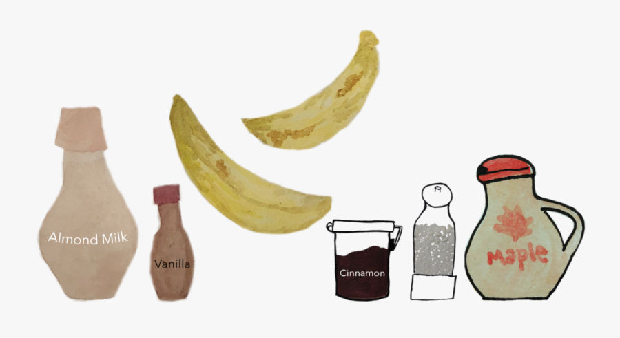 Transparent Horchata Clipart - Saba Banana, Transparent Clipart