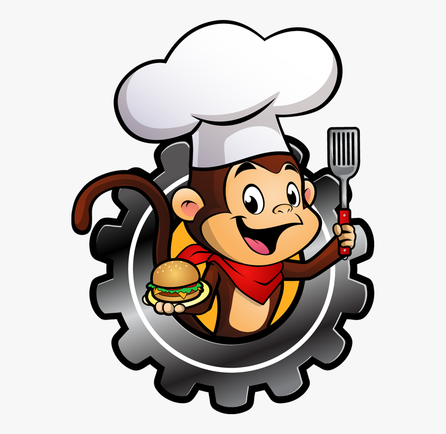 Spanky's Food Factory Mascot, Transparent Clipart