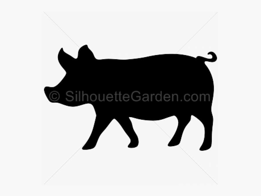 Transparent Animal Silhouette Clipart - Pig Farm Animal Silhouette, Transparent Clipart