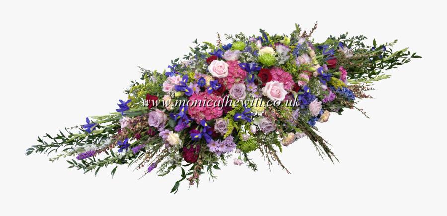 Casket Flower Bouquet Png - 5ft Colourful Coffin Spray, Transparent Clipart