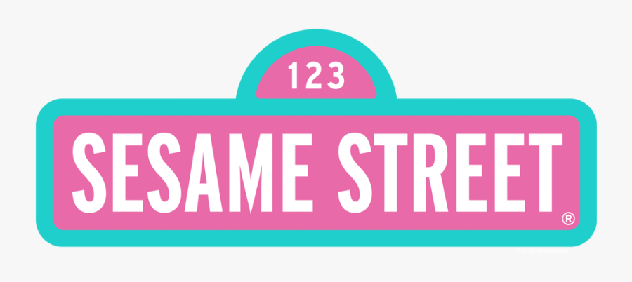 123 Sesame Street Logo, Transparent Clipart