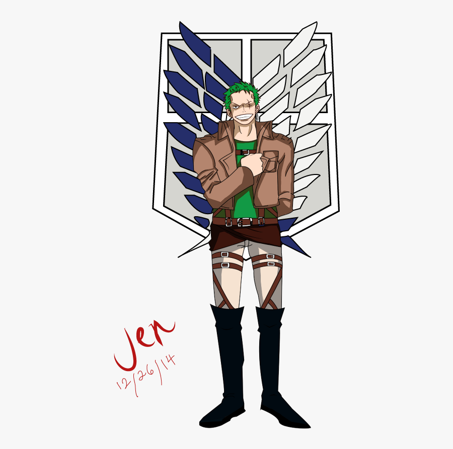 Zoro As A Member Of The Survey Corps Attack On Titan Wallpaper Scouting Legion Free Transparent Clipart Clipartkey