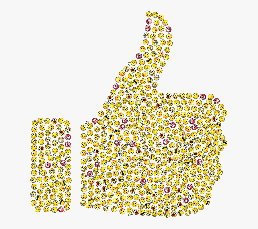 Thumbs Up, Emoticons, Emojis, Smileys, Icons, Yellow - Thumbs Up Emoji, Transparent Clipart